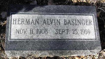 BASINGER, HERMAN ALVIN - Yavapai County, Arizona | HERMAN ALVIN BASINGER - Arizona Gravestone Photos
