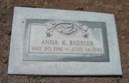 BASSLER, ANNA K. - Yavapai County, Arizona   ANNA K. BASSLER - Arizona Gravestone Photos