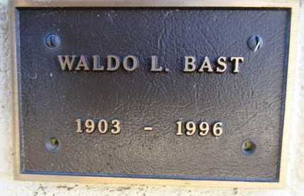 BAST, WALDO LEE - Yavapai County, Arizona | WALDO LEE BAST - Arizona Gravestone Photos