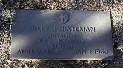 BATEMAN, WILLIAM J. (BILLY ) - Yavapai County, Arizona | WILLIAM J. (BILLY ) BATEMAN - Arizona Gravestone Photos