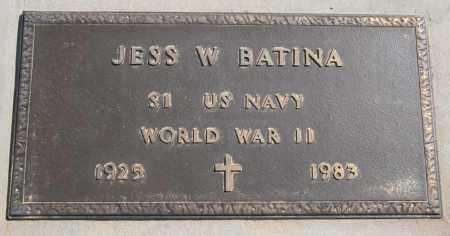 BATINA, JESS W. - Yavapai County, Arizona | JESS W. BATINA - Arizona Gravestone Photos