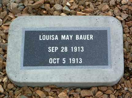 BAUER, LOUISA MAY - Yavapai County, Arizona   LOUISA MAY BAUER - Arizona Gravestone Photos