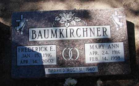 BAUMKIRCHNER, MARY ANN - Yavapai County, Arizona | MARY ANN BAUMKIRCHNER - Arizona Gravestone Photos