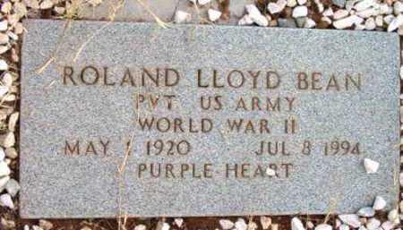 BEAN, ROLAND LLOYD - Yavapai County, Arizona   ROLAND LLOYD BEAN - Arizona Gravestone Photos