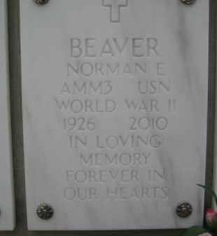 BEAVER, NORMAN E - Yavapai County, Arizona   NORMAN E BEAVER - Arizona Gravestone Photos