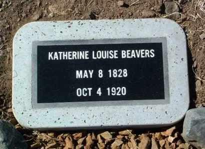 BEAVERS, KATHERINE LOUISE - Yavapai County, Arizona   KATHERINE LOUISE BEAVERS - Arizona Gravestone Photos