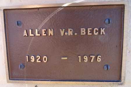 BECK, ALLEN V. R. - Yavapai County, Arizona   ALLEN V. R. BECK - Arizona Gravestone Photos