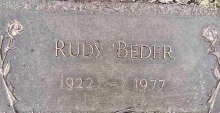 BEDER, RUDY RUDOLPH - Yavapai County, Arizona   RUDY RUDOLPH BEDER - Arizona Gravestone Photos