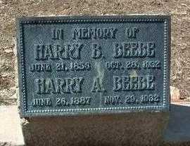 BEEBE, HARRY BENJAMIN - Yavapai County, Arizona | HARRY BENJAMIN BEEBE - Arizona Gravestone Photos
