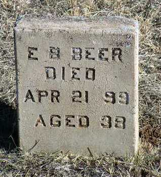 BEER, E. B. - Yavapai County, Arizona   E. B. BEER - Arizona Gravestone Photos
