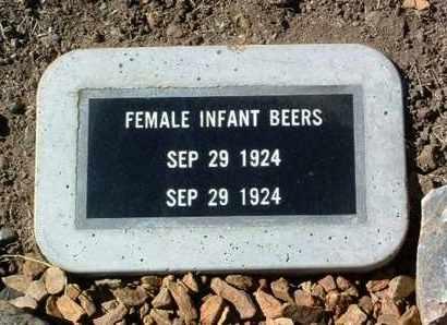 BEERS, INFANT FEMALE - Yavapai County, Arizona | INFANT FEMALE BEERS - Arizona Gravestone Photos