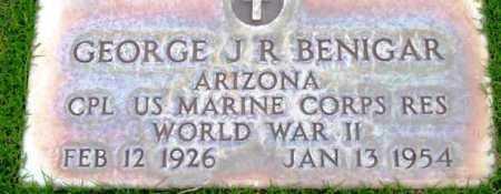 BENIGAR, GEORGE J.R. - Yavapai County, Arizona   GEORGE J.R. BENIGAR - Arizona Gravestone Photos