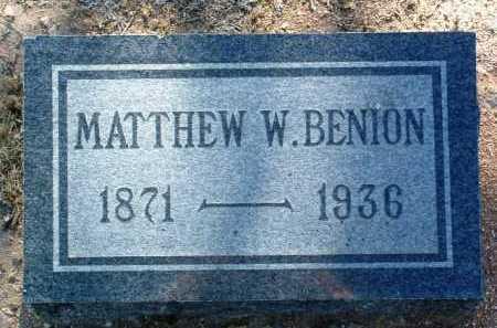 BENION, MATTHEW WILLIAM - Yavapai County, Arizona | MATTHEW WILLIAM BENION - Arizona Gravestone Photos