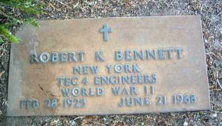 BENNETT, ROBERT K. - Yavapai County, Arizona | ROBERT K. BENNETT - Arizona Gravestone Photos