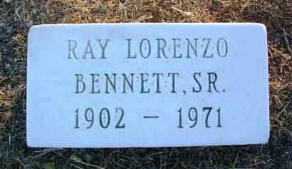 BENNETT, RAY LORENZO, SR. - Yavapai County, Arizona | RAY LORENZO, SR. BENNETT - Arizona Gravestone Photos