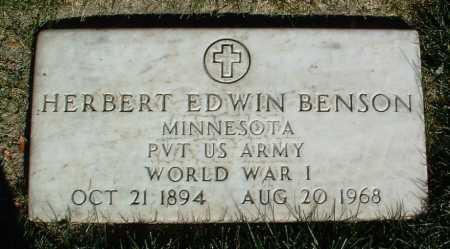 BENSON, HERBERT EDWIN - Yavapai County, Arizona | HERBERT EDWIN BENSON - Arizona Gravestone Photos