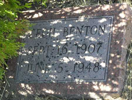 BENTON, CECIL M. - Yavapai County, Arizona | CECIL M. BENTON - Arizona Gravestone Photos