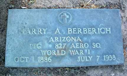 BERBERICH, HARRY ALOUISES - Yavapai County, Arizona   HARRY ALOUISES BERBERICH - Arizona Gravestone Photos