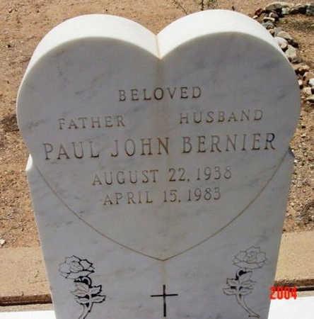 BERNIER, PAUL JOHN - Yavapai County, Arizona   PAUL JOHN BERNIER - Arizona Gravestone Photos