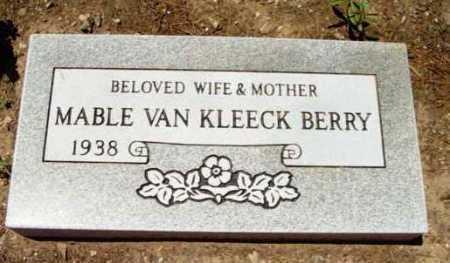 BERRY, MAVEL VAN KLEECK - Yavapai County, Arizona   MAVEL VAN KLEECK BERRY - Arizona Gravestone Photos