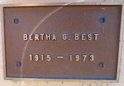 BEST, BERTHA GERTRUDE - Yavapai County, Arizona   BERTHA GERTRUDE BEST - Arizona Gravestone Photos