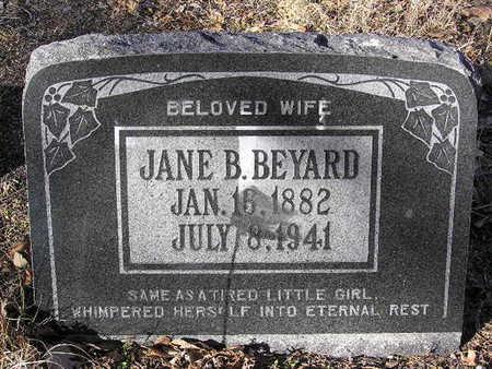 BEYARD, JANE BERTHA - Yavapai County, Arizona | JANE BERTHA BEYARD - Arizona Gravestone Photos