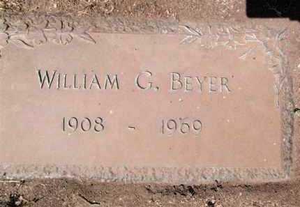 BEYER, WILLIAM GEORGE - Yavapai County, Arizona | WILLIAM GEORGE BEYER - Arizona Gravestone Photos