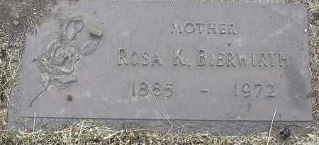 BIERWIRTH, ROSA K. - Yavapai County, Arizona   ROSA K. BIERWIRTH - Arizona Gravestone Photos
