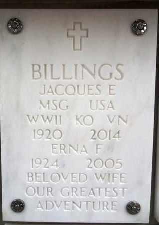 BILLINGS, JACQUES EDWARD - Yavapai County, Arizona | JACQUES EDWARD BILLINGS - Arizona Gravestone Photos