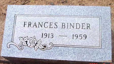 BINDER, FRANCES - Yavapai County, Arizona | FRANCES BINDER - Arizona Gravestone Photos