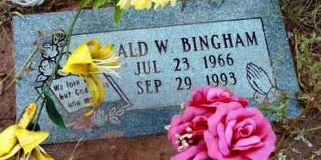 BINGHAM, RONALD WAYNE - Yavapai County, Arizona   RONALD WAYNE BINGHAM - Arizona Gravestone Photos