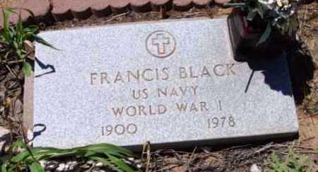 BLACK, FRANCIS - Yavapai County, Arizona | FRANCIS BLACK - Arizona Gravestone Photos