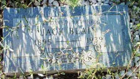 BLAIN, JACK - Yavapai County, Arizona   JACK BLAIN - Arizona Gravestone Photos