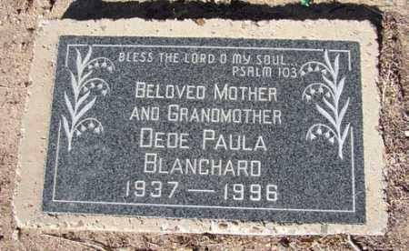 BLANCHARD, DEDE PAULA - Yavapai County, Arizona | DEDE PAULA BLANCHARD - Arizona Gravestone Photos