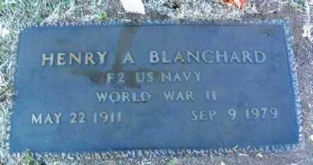 BLANCHARD, HENRY ANDREW - Yavapai County, Arizona   HENRY ANDREW BLANCHARD - Arizona Gravestone Photos