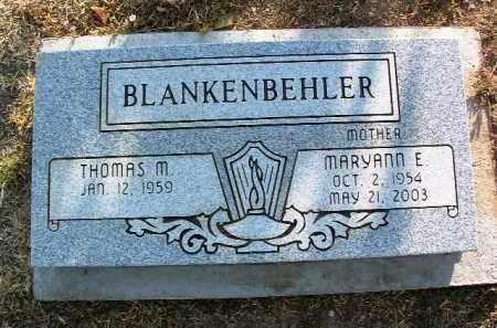 BLANKENBEHLER, THOMAS M. - Yavapai County, Arizona   THOMAS M. BLANKENBEHLER - Arizona Gravestone Photos