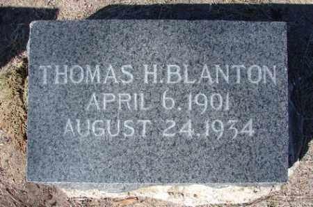 BLANTON, THOMAS H. - Yavapai County, Arizona | THOMAS H. BLANTON - Arizona Gravestone Photos
