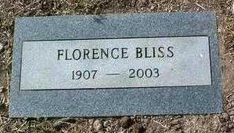 BLISS, FLORENCE - Yavapai County, Arizona | FLORENCE BLISS - Arizona Gravestone Photos