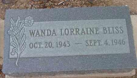 BLISS, WANDA LORRAINE - Yavapai County, Arizona   WANDA LORRAINE BLISS - Arizona Gravestone Photos