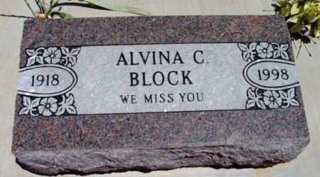 BLOCK, ALVINA C. - Yavapai County, Arizona   ALVINA C. BLOCK - Arizona Gravestone Photos