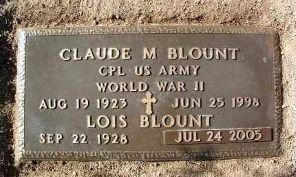BLOUNT, CLAUDE MARVIN - Yavapai County, Arizona | CLAUDE MARVIN BLOUNT - Arizona Gravestone Photos