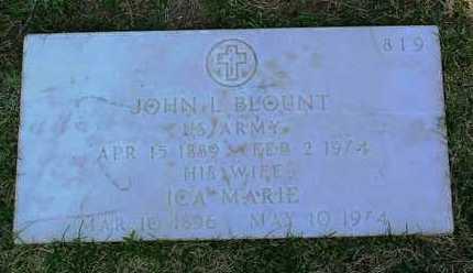 BLOUNT, JOHN LEE - Yavapai County, Arizona | JOHN LEE BLOUNT - Arizona Gravestone Photos