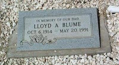 BLUME, LLOYD A. - Yavapai County, Arizona | LLOYD A. BLUME - Arizona Gravestone Photos