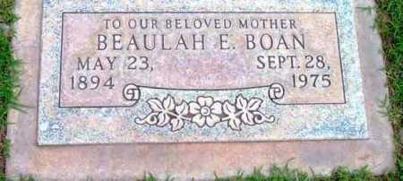 BOAN, BEAULAH ELIZABETH - Yavapai County, Arizona   BEAULAH ELIZABETH BOAN - Arizona Gravestone Photos