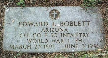 BOBLETT, EDWARD LEONARD - Yavapai County, Arizona | EDWARD LEONARD BOBLETT - Arizona Gravestone Photos