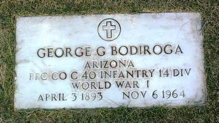 BODIROGA, GEORGE GLEEKEL - Yavapai County, Arizona | GEORGE GLEEKEL BODIROGA - Arizona Gravestone Photos