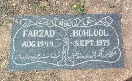 BOHLOOL, FARZAD (FRANK) - Yavapai County, Arizona | FARZAD (FRANK) BOHLOOL - Arizona Gravestone Photos