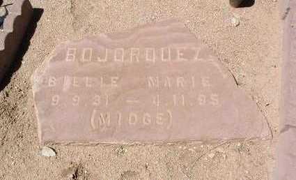 BOJORQUEZ, BILLIE MARIE - Yavapai County, Arizona   BILLIE MARIE BOJORQUEZ - Arizona Gravestone Photos