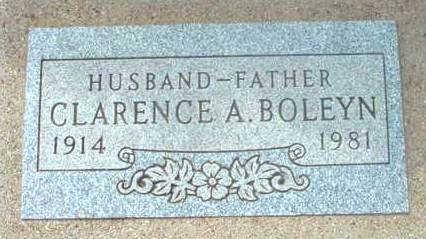 BOLEYN, CLARENCE ALFRED - Yavapai County, Arizona   CLARENCE ALFRED BOLEYN - Arizona Gravestone Photos