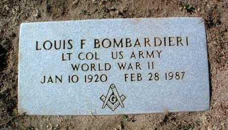 BOMBARDIERI, LOUIS F - Yavapai County, Arizona | LOUIS F BOMBARDIERI - Arizona Gravestone Photos